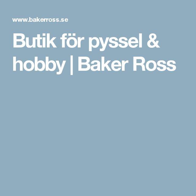 Butik för pyssel & hobby   Baker Ross