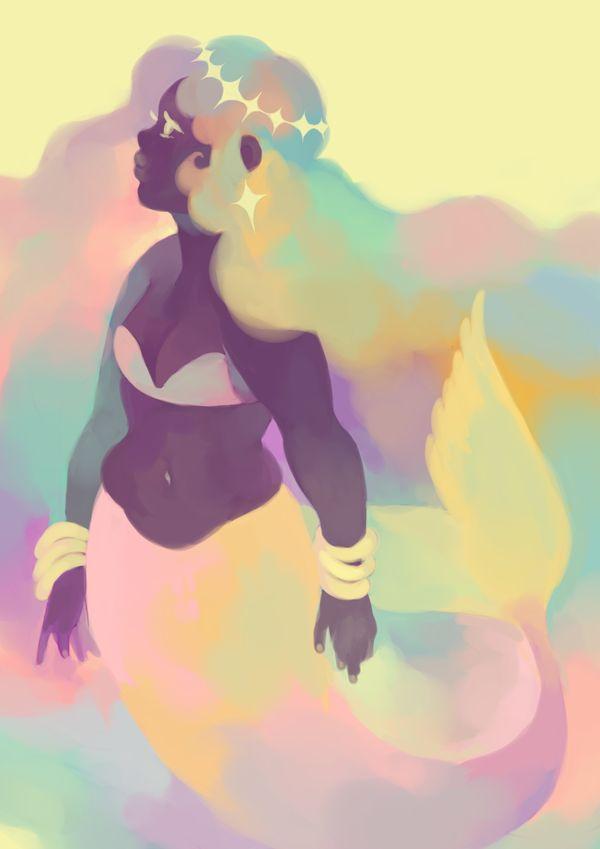"potasium: ""pastel mermaids are my aesthetic """