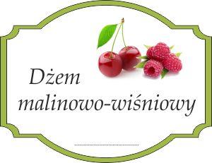 Naklejka na malinowo-wiśniowy dżem
