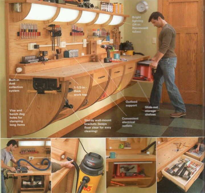 Do it yourself garage workbench plans woodworking for Diy garage plans
