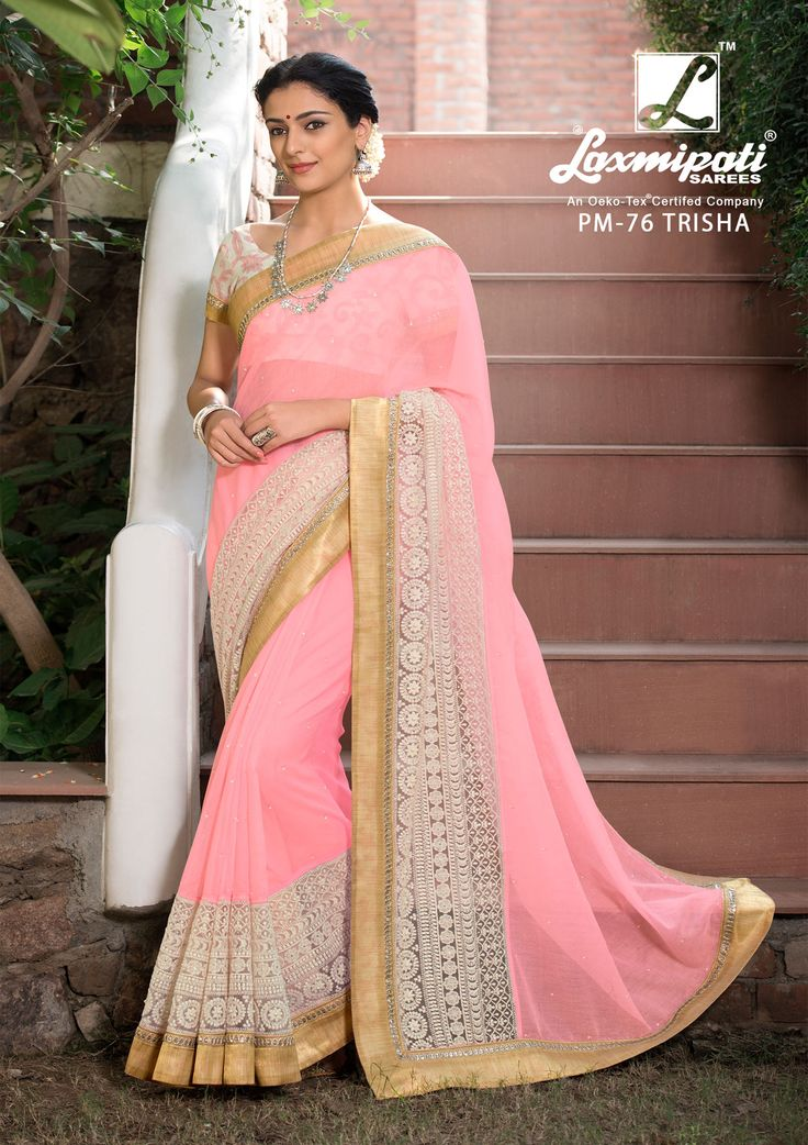Explore the Laxmipati Light Coral Cotton Supernet #Embroidered_Saree and Off White Printed Rawsilk Blouse along with Lace Border for Your Special #Occasion. #Catalogue- #SABRANG #DesignNumber- SABRANG 76 #Price - ₹ 3158.00