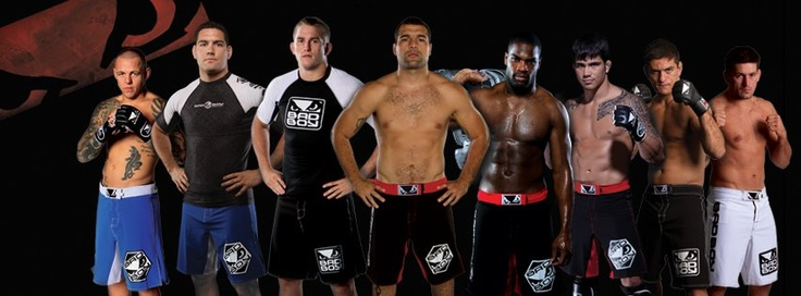 Some of our sponsored athletes, from left to right:   Ross 'The Real Deal' Pearson,   Alex 'The Viking' Gusstafon,   Mauricio 'Shogun' Rua,   DeMarco Murray,   Erick Silva,   Demian Maia