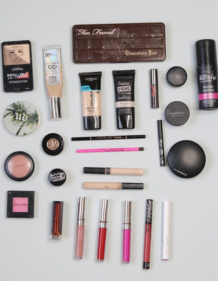 All the makeup I brought for a trip abroad! << Meg O On The Go