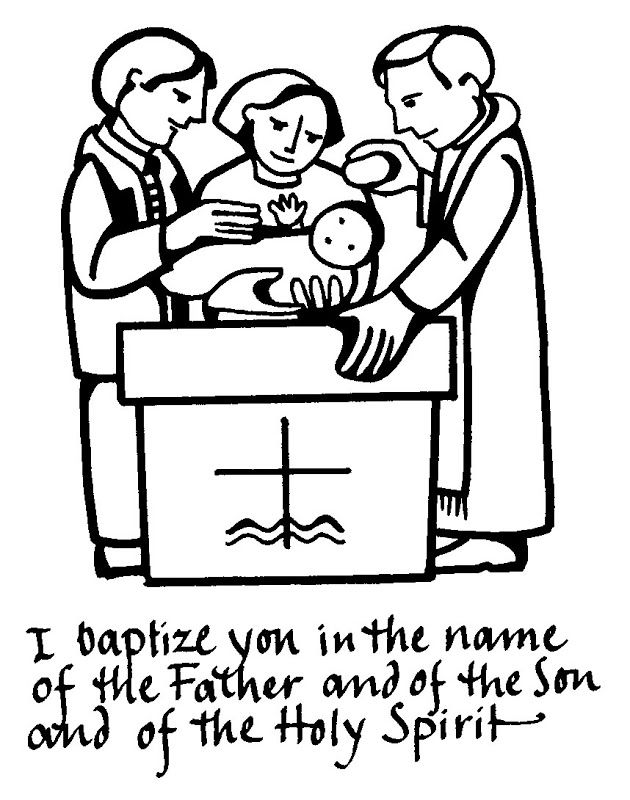 baptism coloring - Jesus Baptism Coloring Page