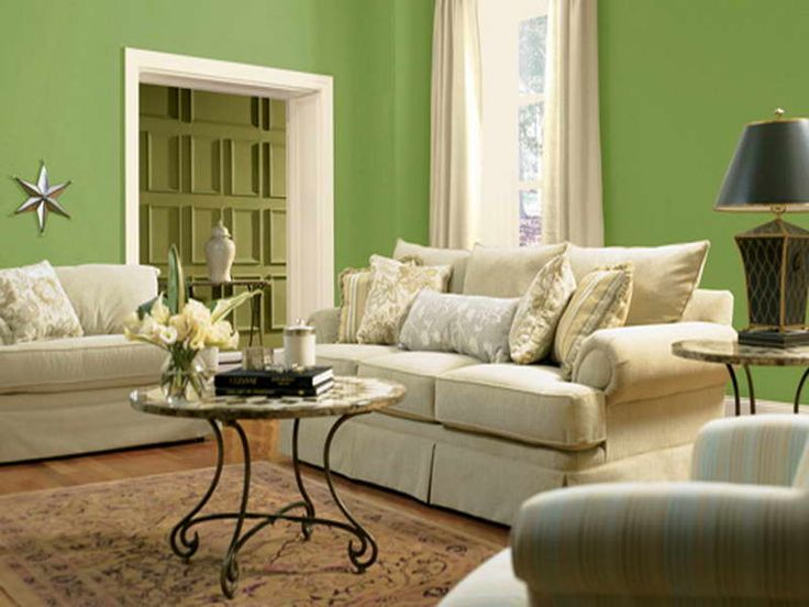 Living Room Color Scheme Ideas For With Green Wall Country Rooms Decorating