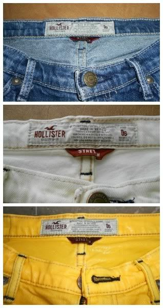 Turning jeans into colorful shorts...I'm going to have to do this with some of my old jeans in the closet closer to summer! :D