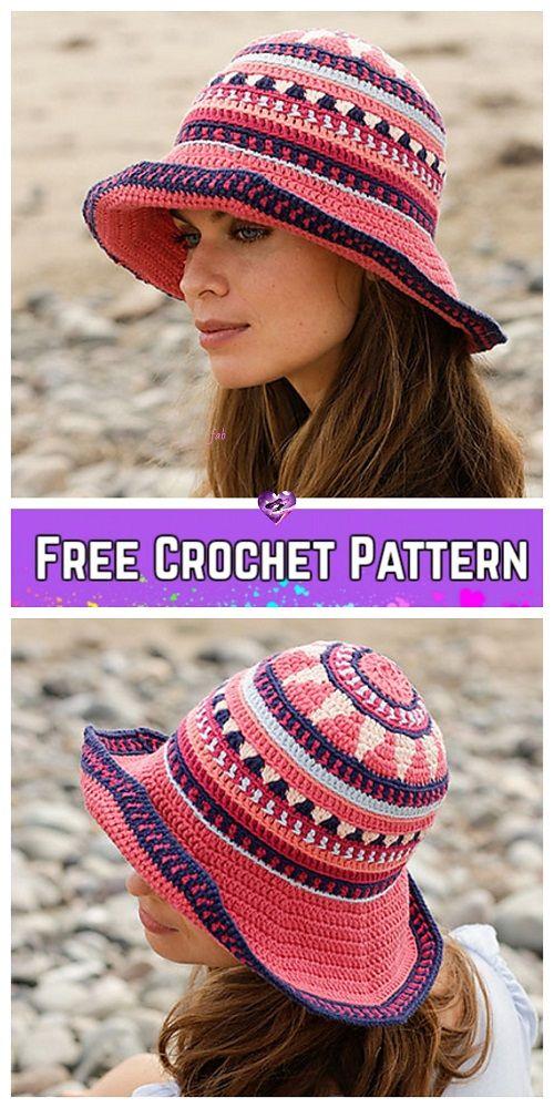 7df2d0347e3 Crochet Summer Bazaar Sun Hat Crochet Free Patterns