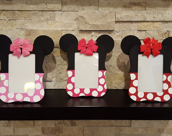 Minnie Mouse Photo Frame - 4x6 Minnie Mouse Picture Frame - Minnie Mouse Birthday Party - Minnie Mouse Photo Prop - Mickey Mouse Photo Frame