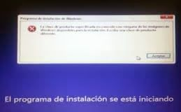Error al Instalar Windows 8