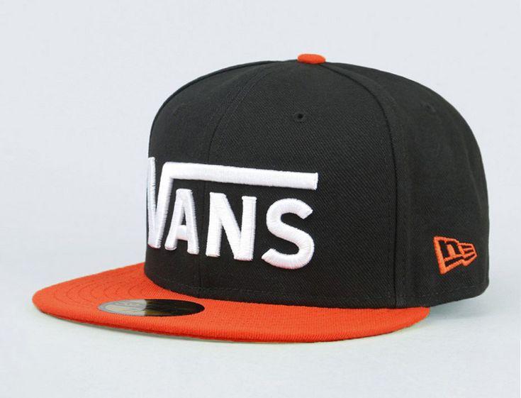 Drop V Black-Tigerlily 59Fifty Fitted Baseball Cap by VANS x NEW ERA ... 24128d4a32