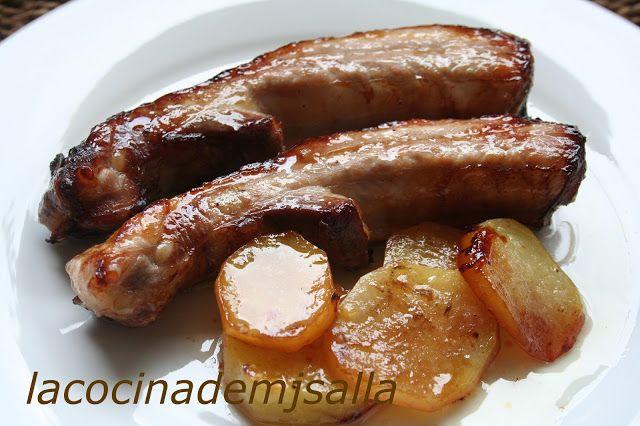 La cocina de MJ Salla: COSTILLA DE CERDO AL HORNO MARINADO CON MIEL Y SOJA.
