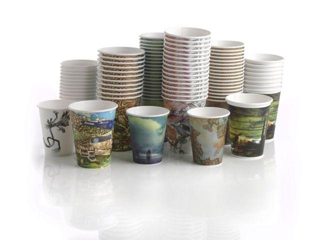 BioPak art series cups. A platform for Australian artists to expose their environmentally themed artwork