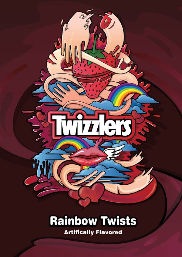 Twizzler - Fast moving consumer goods packaging by Hoang Duc Nguyen, via Behance