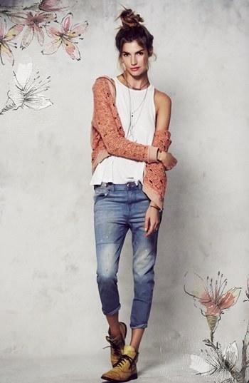 Weekend Style - Cardigan, Tank & Jeans