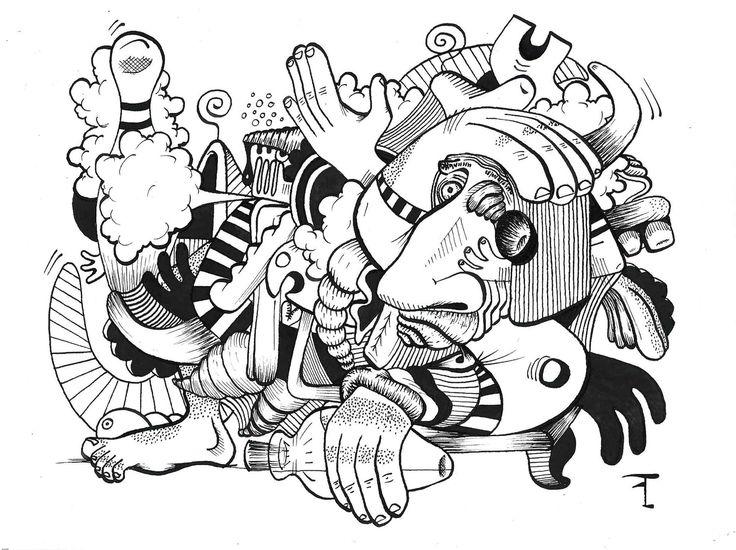 Oeuvre originale - Titre du dessin : LES LENDEMAINS