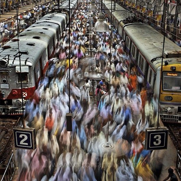 Join the throngs at the Churchgate Railway Station in Mumbai