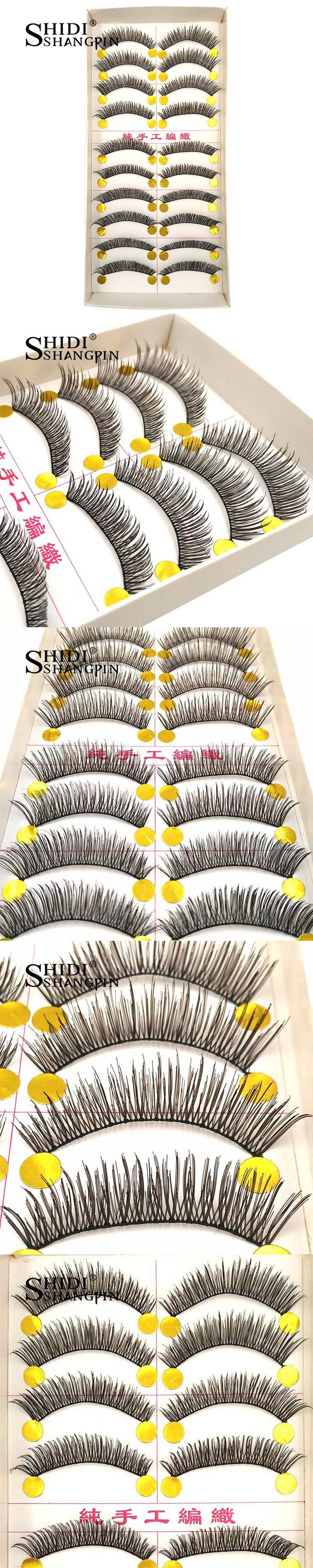 10 Pairs False Eyelashes Extension Eyelash Make Up Beauty Bare Lash Extension Kit Wispy Long Eyelashes Natural Makeup Fake Lahes