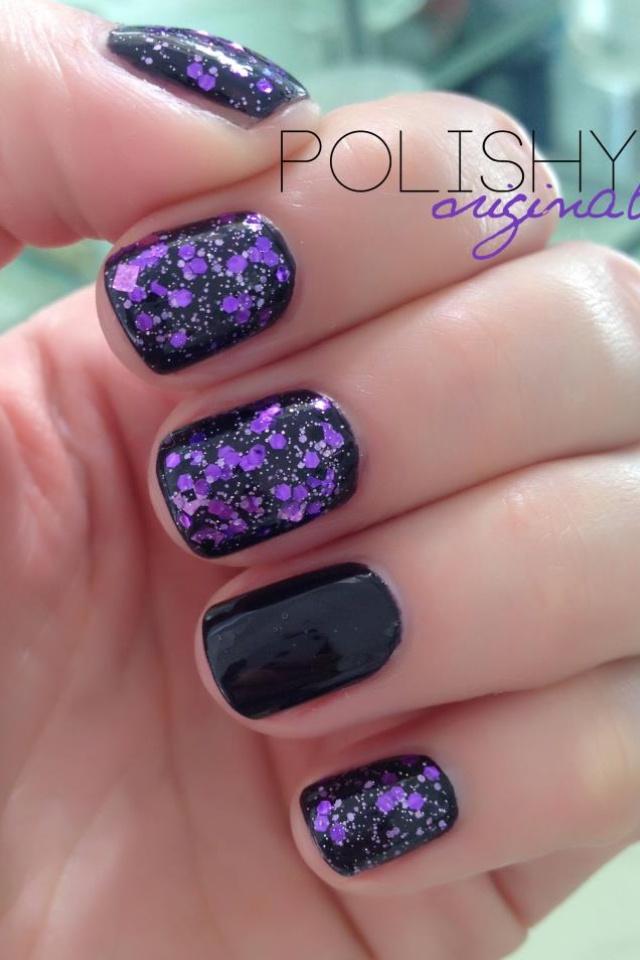 Talk Purple to Me - Purple, Black, Prism, Squares and Hex