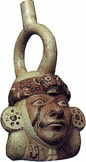 Portrait Vessel. 100-500 A.D. South American, Moche. North Coast of Peru.Worcester Art Museum