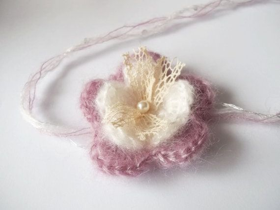 crochet headband  photo props by MonikaTomkoPhotoProp on Etsy