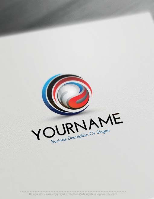 Free Logo Creator – Online Create 3D Swirl Logo