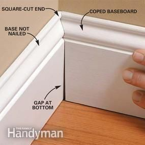 How to actually cut shaped trim to make it look like it's supposed to
