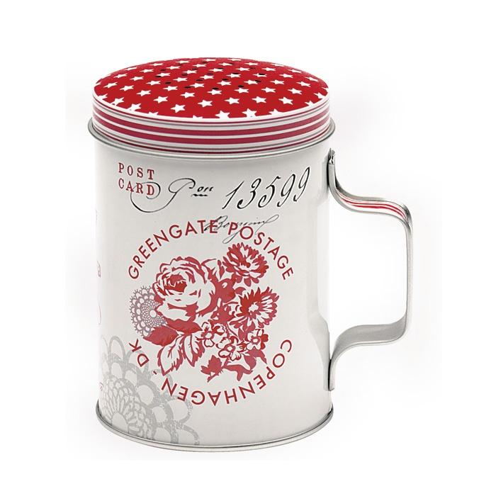 Greengate Tin Flour Shaker Fay Red Emil Amp Paula