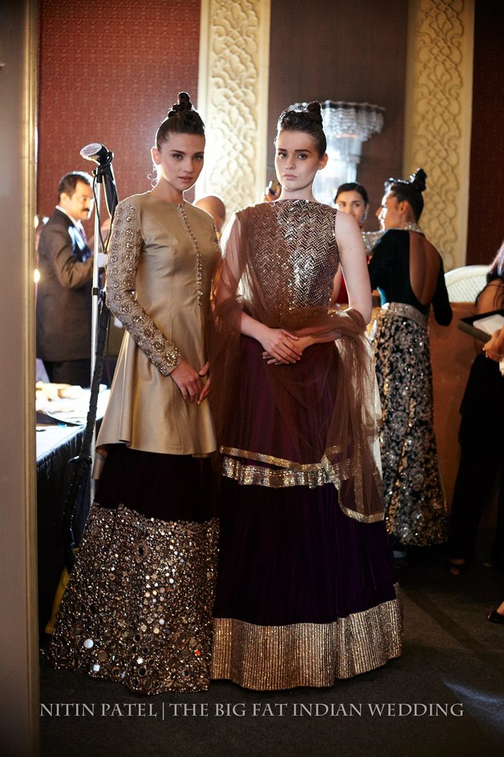 shades of gold for these Indian lenghas | Manish Malhotra | India Couture Week 2014