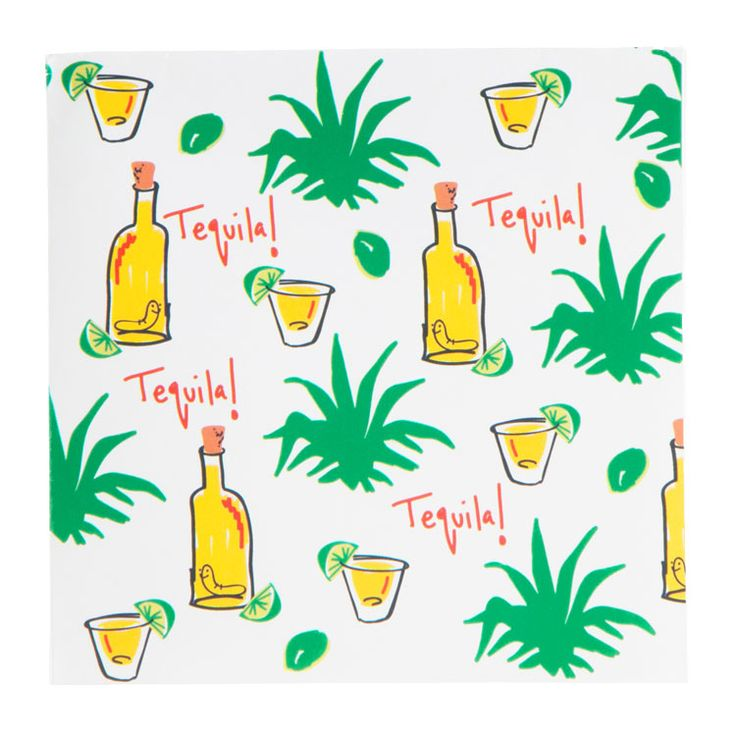 Tequila! Agave Beverage Napkins | Cinco de Mayo | Mexican Fiesta Party Decorations & Supplies