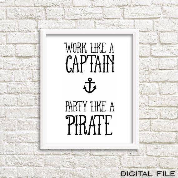pirates of the caribbean poster pirate quotes anchor von GrafikShop