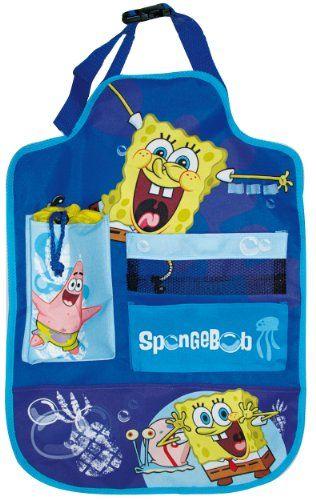 SpongeBob SB-KFZ-651 -Organizador de juguetes para respaldo de asiento de coche con diseño de Bob Esponja, color azul