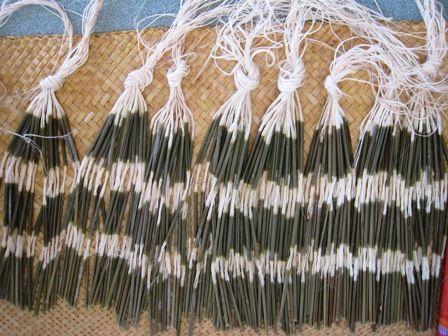 Flax Weaving - Pokinikini for making a Piupiu