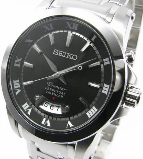 Seiko Men's Premier Perpetual Calendar 100m Watch SNQ147P1 - In Stock, Free Next Day Delivery, Our Price: £229.99, Buy Online Now