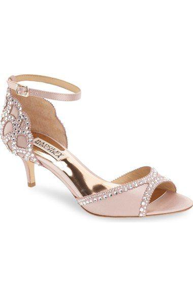 Badgley Mischka 'Gillian' Crystal Embellished d'Orsay Sandal (Women) available at #Nordstrom
