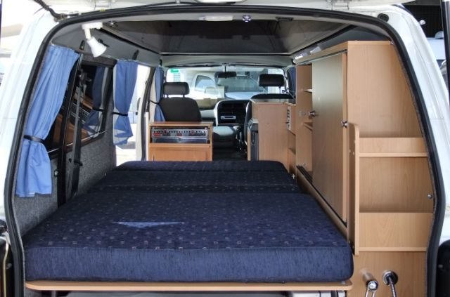 Small Conversion Vans >> Frontline Camper Van - Bed | 0. Van Dwelling | Pinterest ...