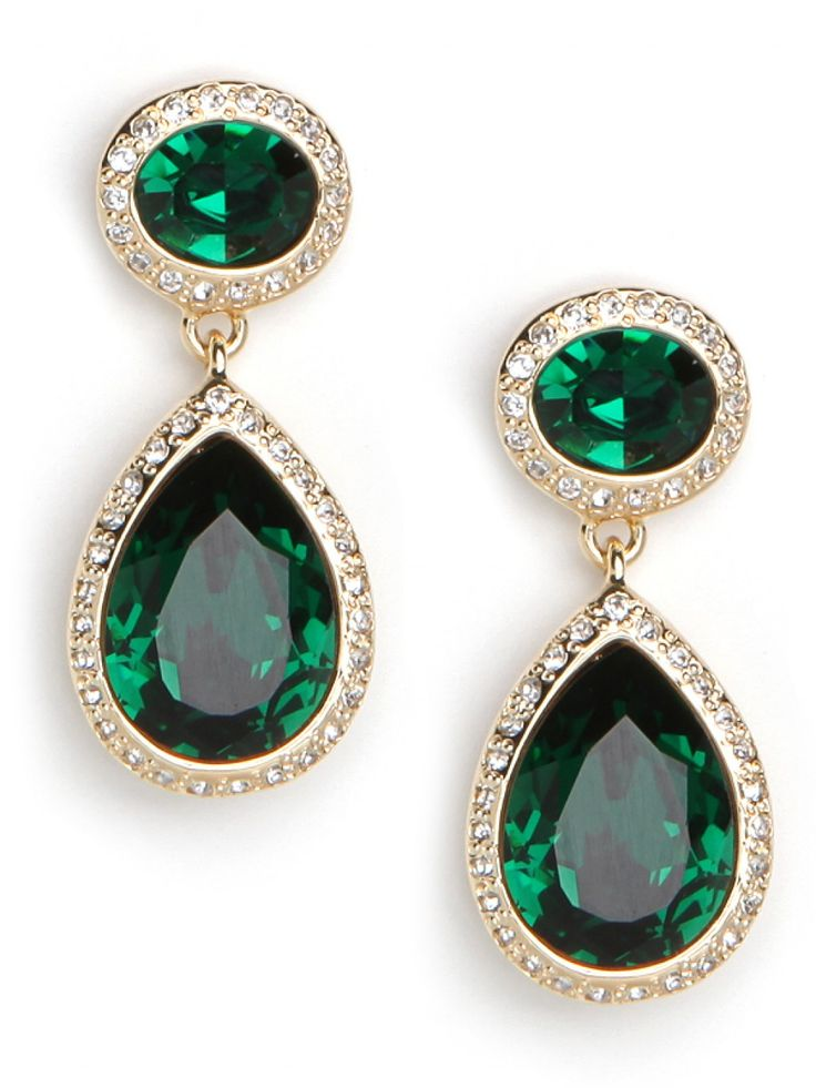 Gold Emerald Sparkle Drops on Bauble Bar.