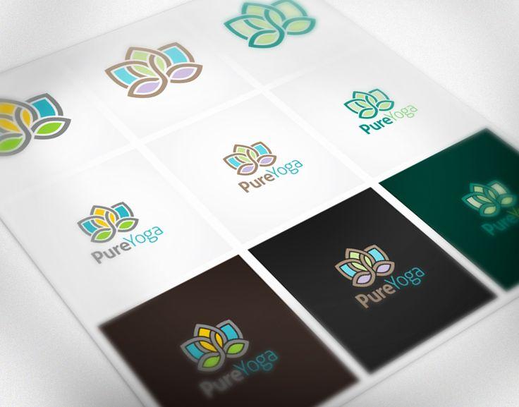 Pure Yoga Logo by Cre8iveSense on @creativemarket