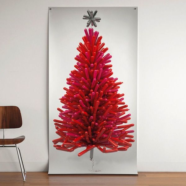 Red balloon #Christmastree poster