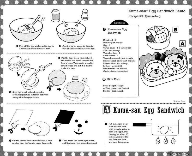Kuma-san Egg Sandwich, Side Dish recipe part 1 - Hatsukoi Lunch Box by Kodaka Nao