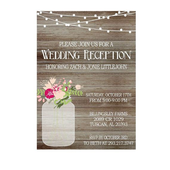 Reception Only Wedding Invitation is good invitations layout