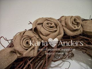 A Work of Heart: It's Friday Again! Burlap Roses