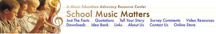 School Music Matters: Music Education Advocacy Resource Center - also has idea board with lesson and game ideas! mostly elementary