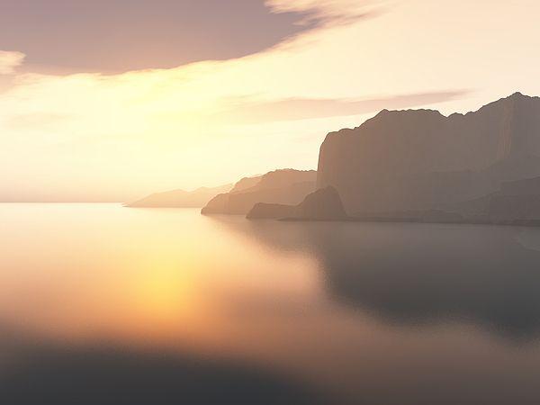 "Bildwerk ""Morning Sky"""