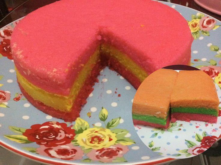 Steam Rainbow cake