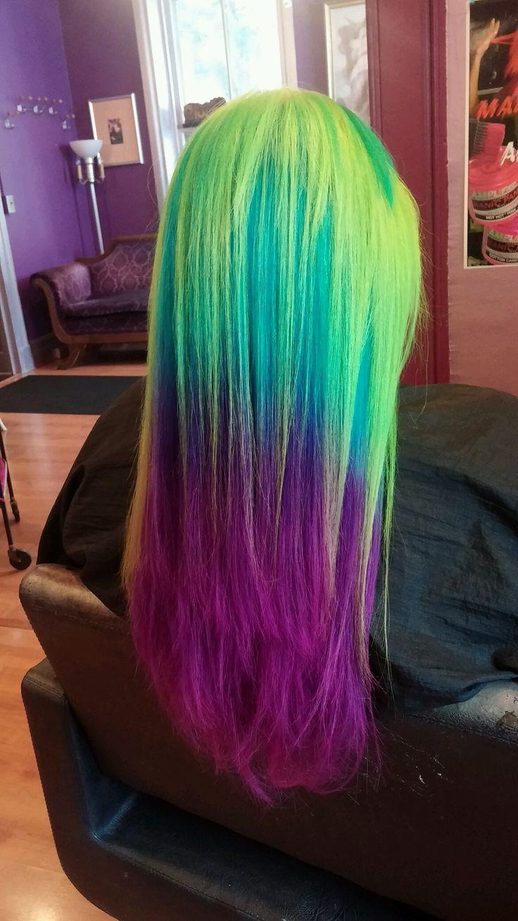 Kasey O'Hara for The Hair After Salon did this amazing MANIC PANIC dye job!