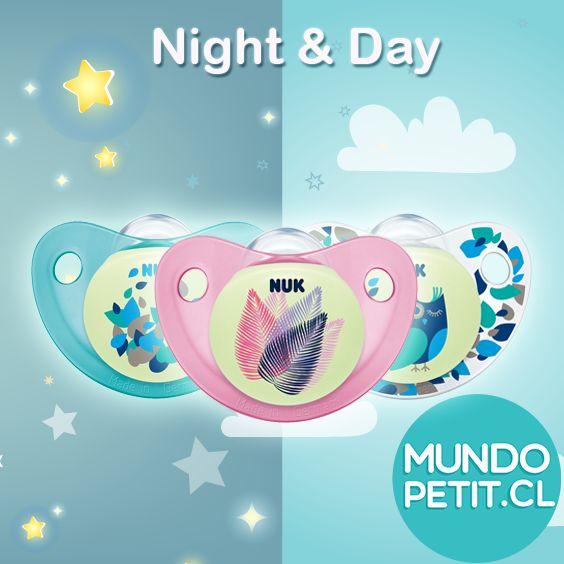 Nuevos Diseños NUK Chupetes Night&day ¡Brillan en la oscuridad!  www.mundopetit.cl #nuk #chupetes