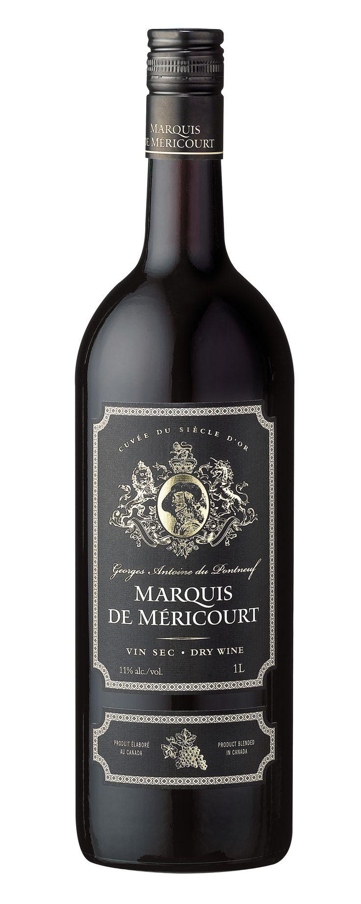 MARQUIS DE MÉRICOURT – Rouge tel est l'autre noblesse de nos marchés! Un vin rouge  dont sa robe est judicieuse avec une vivacité forte agréable. On retrouve des arômes fruités  de fruits rouges. En bouche il a une finesse et de fraîcheur. Sec et franc, il a une texture quasi grasse. La température de service se situe entre 14°C &: 16°C / Degré d'alcool 11,0 %