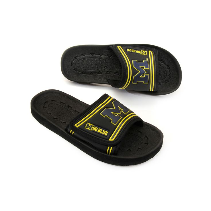 Adult Michigan Wolverines Slide Sandals, Size: Small, Black