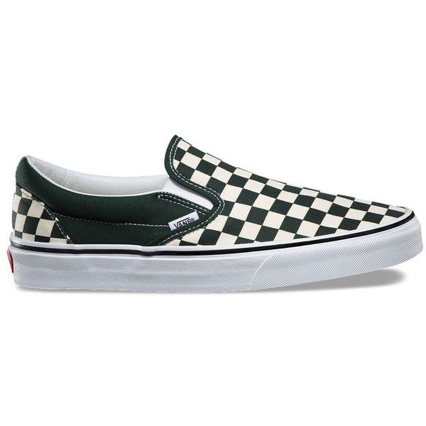 Vans Checkerboard Slip-On ($50) ❤ liked on Polyvore featuring men's fashion,