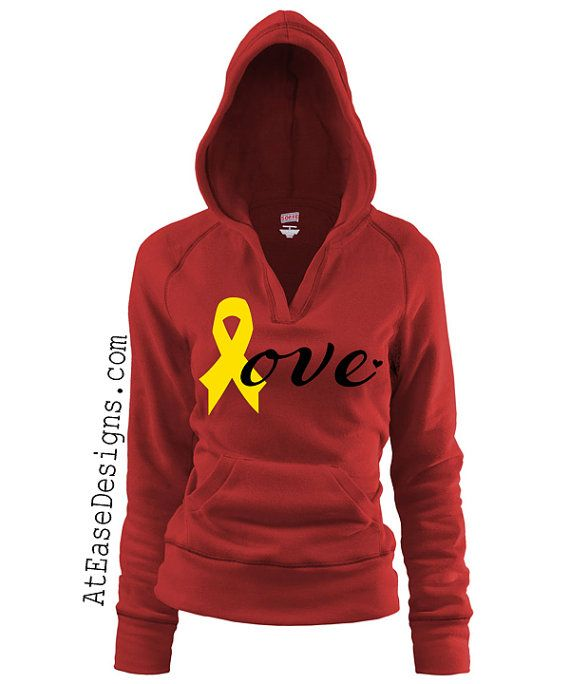 Red Friday. Military love hoodie - pullover. support our troops yellow ribbon usmc navy army usaf wife girlfriend At Ease Designs on Etsy, $36.00